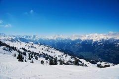 Reasort del esquí del invierno Fotos de archivo