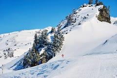 Reasort dello sci di inverno Fotografie Stock Libere da Diritti