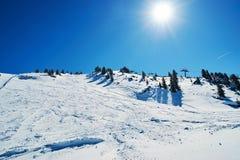 Reasort do esqui do inverno Fotografia de Stock Royalty Free