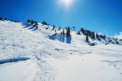 Reasort do esqui do inverno Imagem de Stock Royalty Free