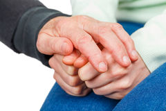 Reassuring hands Stock Photography