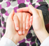 Reassuring hands Royalty Free Stock Image