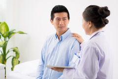 Reassuring patient Stock Photography