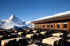 Reataurant on the top of the mountain Royalty Free Stock Images