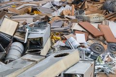 Reavation rubble waiting to be removed royalty free stock image