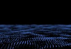 Reazione dell'audio del campo della particella onda particolare Onda sonora Soun fotografia stock
