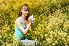 Reazioni allergiche da balzare fiori, polline Fotografia Stock Libera da Diritti