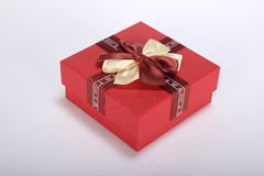 Reb Gift box Royalty Free Stock Photography