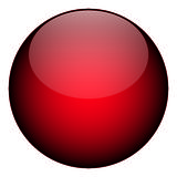 Reb Orb. A red orb - it works as a great planet, button, or other art element Stock Photo
