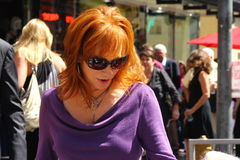 Reba McEntire. Reba attends Walk of Fame ceremony for Vince Gill Royalty Free Stock Images