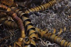 Rebabas oxidadas del metal imagen de archivo libre de regalías