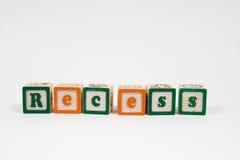 Rebaixo em letras de bloco Fotografia de Stock Royalty Free