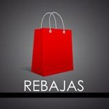 Rebajas - Sale, Discounts spanish text Stock Photo