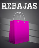 Rebajas - Sale, Discounts spanish text Royalty Free Stock Photo