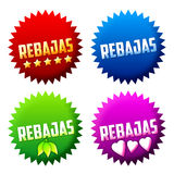 Rebajas - sale - offer spanish text Royalty Free Stock Photos