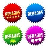 Rebajas - sale - offer spanish text Royalty Free Stock Photos