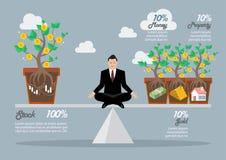 Rebalancing portfolio asset allocation. Business concept Stock Photography