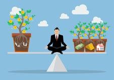 Rebalancing portfolio asset allocation. Business concept Stock Photo