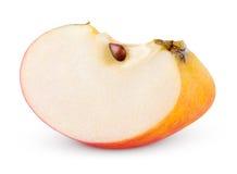 Rebanada amarilla roja de la manzana Imagen de archivo