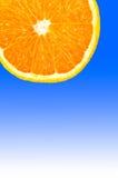 Rebanada anaranjada. Imagen de archivo