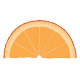 Rebanada anaranjada Imágenes de archivo libres de regalías