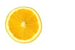 Rebanada anaranjada aislada Fotos de archivo libres de regalías