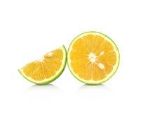 Rebanada anaranjada aislada en el fondo blanco Fotografía de archivo libre de regalías