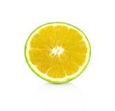 Rebanada anaranjada aislada en el fondo blanco Foto de archivo libre de regalías