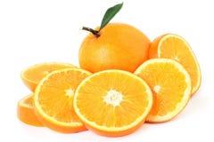 Rebanada anaranjada del pomelo Imagenes de archivo