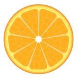 Rebanada anaranjada en el fondo blanco Imagen de archivo