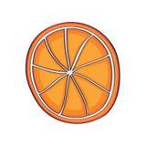Rebanada anaranjada, vector exhausto de la mano stock de ilustración