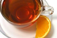 Rebanada caliente del limón del té Fotografía de archivo