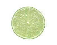 Rebanada de la fruta cítrica de la cal Foto de archivo libre de regalías