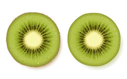 Rebanada de la fruta de kiwi Fotos de archivo