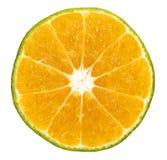 Rebanada de la fruta de la naranja o del limón Fotografía de archivo libre de regalías