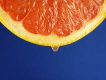 Rebanada de la fruta de la uva roja Fotografía de archivo libre de regalías