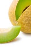 Rebanada de la ligamaza del melón y del melón Imagen de archivo