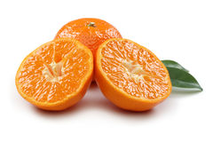 Rebanada de la mandarina foto de archivo libre de regalías
