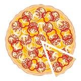 Rebanada de la pizza Foto de archivo libre de regalías