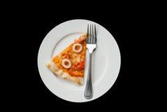 Rebanada de la pizza de los mariscos Imágenes de archivo libres de regalías