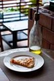 Rebanada de la pizza de los mariscos Fotografía de archivo