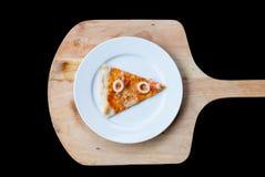 Rebanada de la pizza de los mariscos Fotos de archivo