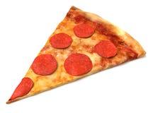 Rebanada de la pizza de salchichones stock de ilustración