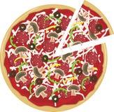 Rebanada de la pizza separada