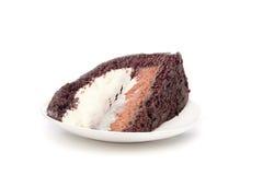Rebanada de la torta de chocolate Foto de archivo libre de regalías