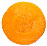 Rebanada de la zanahoria Foto de archivo libre de regalías
