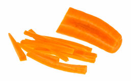 Rebanada de la zanahoria aislada Fotos de archivo libres de regalías