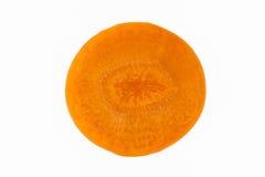 Rebanada de la zanahoria aislada Foto de archivo libre de regalías