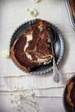 Rebanada de mármol de la torta del bundt Imagenes de archivo