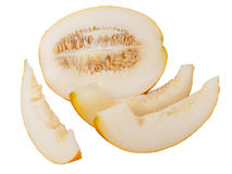 Rebanada de melón. Imagen de archivo libre de regalías